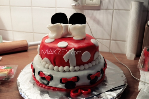 fertige Mickey Mouse Torte
